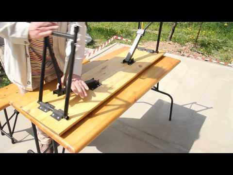 Ролик Стол раскладной с лавками (комплект)