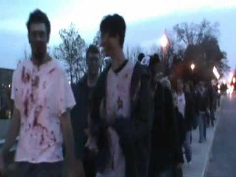 Saint Marys, Ohio - Zombie Walk for Charity.wmv