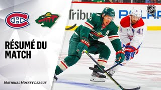 Canadiens vs Wild 2019-20 Match 09