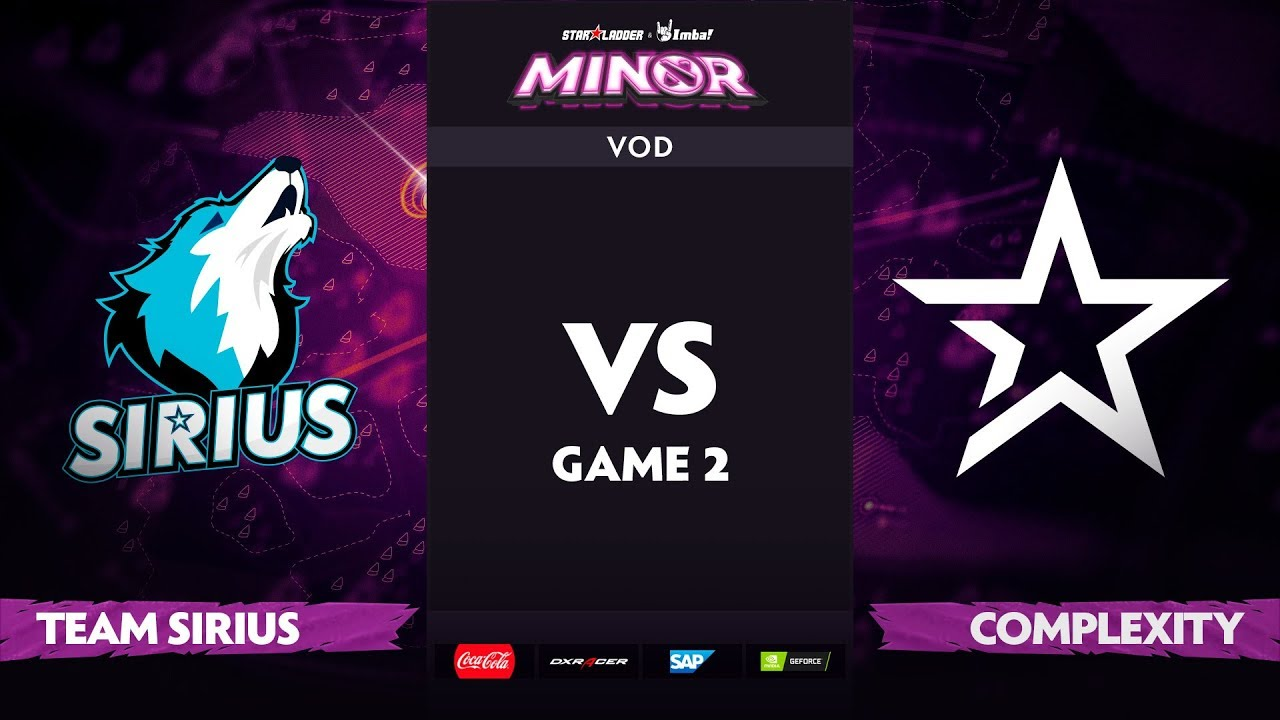 [EN] Team Sirius vs Complexity, Game 2, StarLadder ImbaTV Dota 2 Minor S2 Group Stage