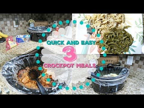 Quick and Easy Crockpot Meals/Recipes