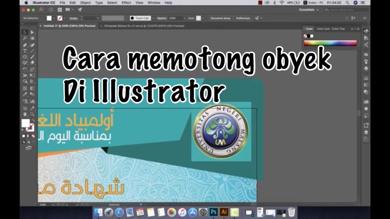 adobe illustrator cara cepat memotong gambar