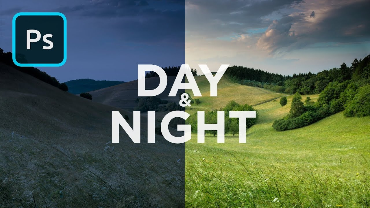 Turn Day Into Night In Photoshop 1 Minute Tutorial Youtube