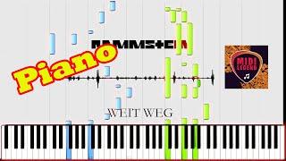 Rammstein - Weit Weg - Piano Tutorial