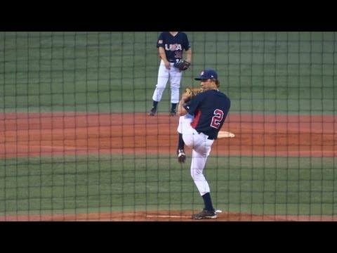 2013/7/11 ルーク・ウィーバー (大学アメリカ代表) Luke Weaver pitching
