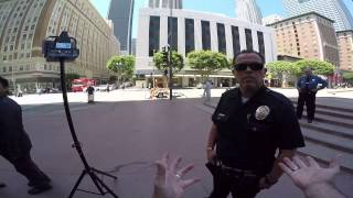 Encounter with LAPD at Pershing Square