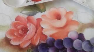 Pintura em Tecido – Aprenda pintar Rosas