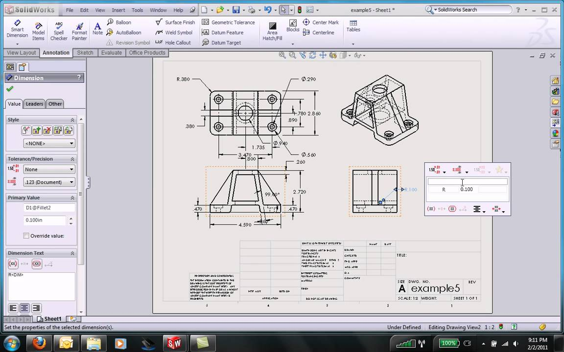 Solidworks drawings basic doovi for Solidworks drawing template tutorial