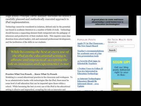 School Administrators as Leaders of iPad Implement...