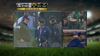 A's protest the game after call at first