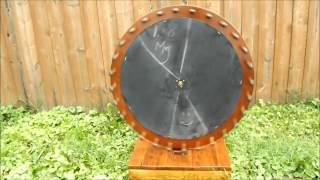 Diy Homemade Reclaimed Wood Gambling Wheel, Spin Wheel.