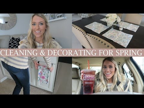 Clean, Cook & Decorate With Me For Spring  Ditl Vlog