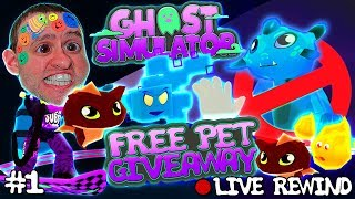 PET GIVEAWAY #1 🐾 Godly & Legendary farming 👻 Ghost Simulator ► Roblox PRO PC 🔴 Live Rewind