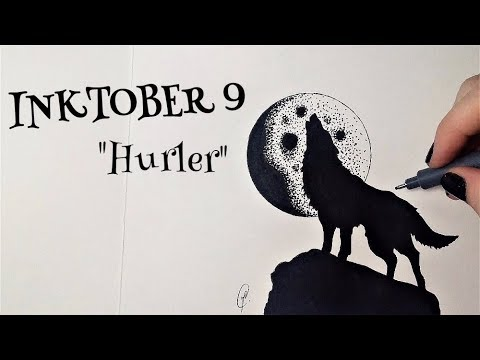 Inktober 9 Loup Qui Hurle Dessin Youtube
