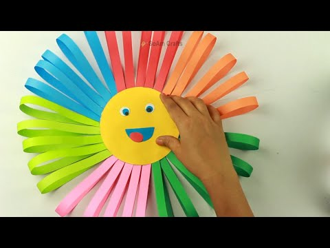 How To Make Awesome Paper Sun For Kids🌞 | DIY Colorful Paper Sun Home Decor | Origami Paper Sun