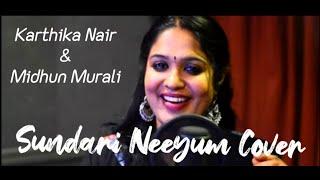 Sundari Neeyum cover-Karthika Nair & Midhun Murali