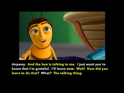 Learn/Practice English With MOVIES (Lesson #76) Title: Bee Movie