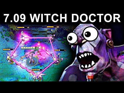 NEW WITCH DOCTOR PATCH 7.09 DOTA 2 NEW META GAMEPLAY #26 (CARRY WITCH DOCTOR)