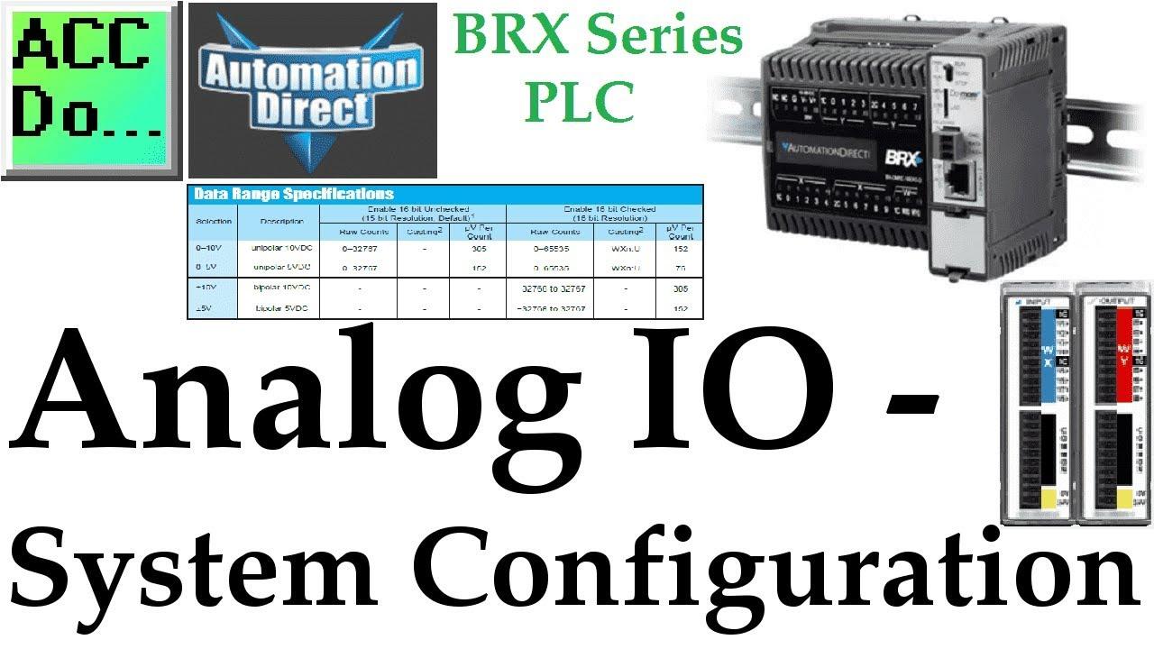 BRX PLC Analog IO – System Configuration