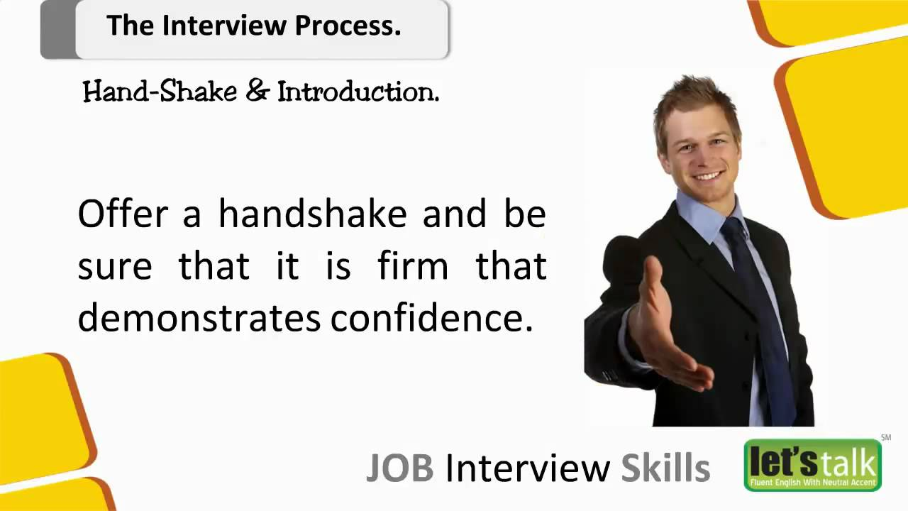 interview skills training part salary negotiation skills job interview skills training part 4 1 hand shake in an interview 2016 10