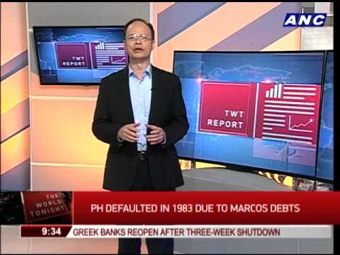 PH defaulted in 1983 due to Marcos debts