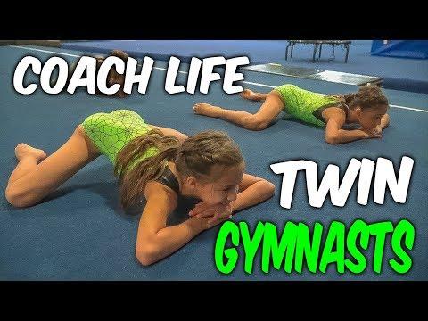 Coach Life: 9 Year Old TWIN Gymnasts| Rachel Marie
