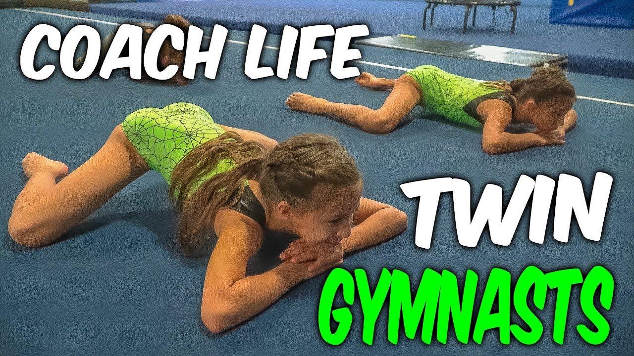 Coach Life: 9 Year Old TWIN Gymnasts  Rachel Marie