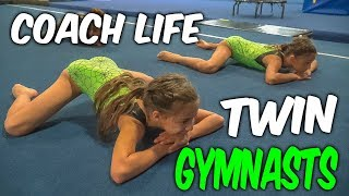 Coach Life: 9 Year Old TWIN Gymnasts| Rachel Marie