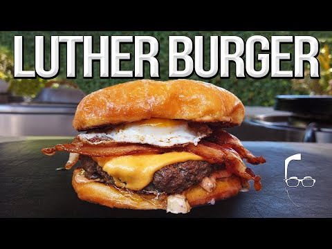 The Luther Burger – Best Donut Bacon Cheeseburger | SAM THE COOKING GUY 4K
