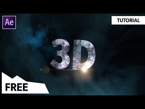 EPIC 3D Text Reveal Animation in After Effects (NO PLUGINS) After Effects Tutorial | FREE TEMPLATE