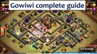 Clash of clans how to Gowiwi attack strategy - Step by step