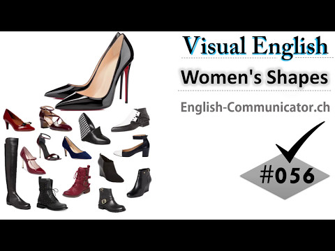 #056 Visual English Language Learning Practical Vocabulary Women's Shoes Part 2