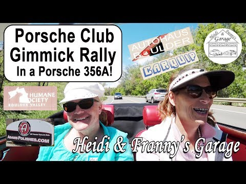 PCA Gimmick Rally in a Porsche 356A!  May 2017 in Boulder Co.