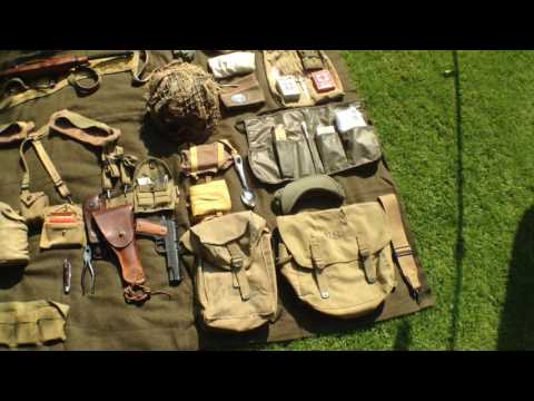 D-DAY -1 anniversary (ww2 U.S. airborne kit layout)