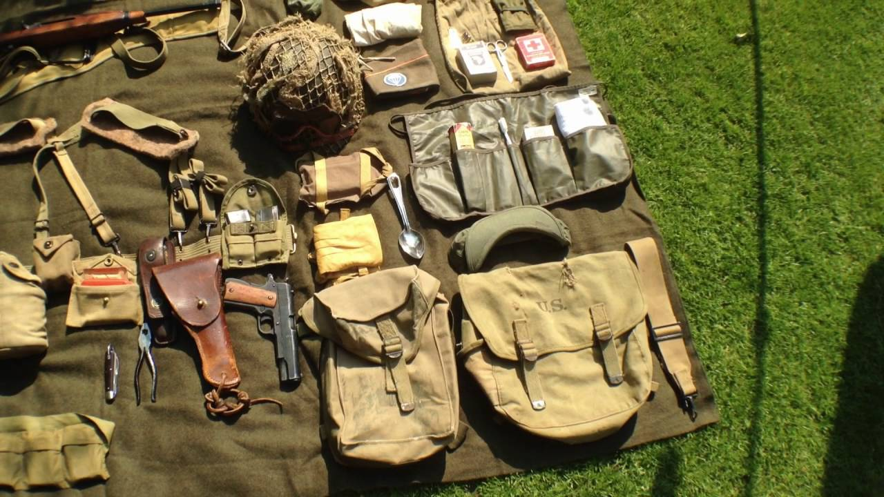 D Day 1 Anniversary Ww2 U S Airborne Kit Layout Youtube