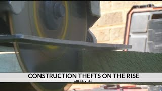 Construction equipment thefts on the rise, Greenville PD warns
