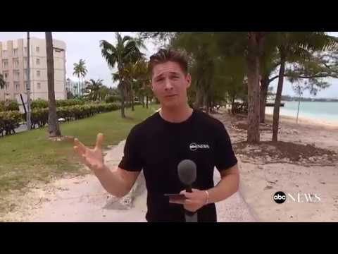 James goes live on Facebook from the Bahamas covering Irma