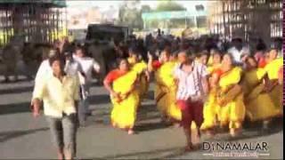 DMDK Leader Vijaykanth Arrested in Chennai - Police Lathi Charge - Dinamalar August 6th 2015