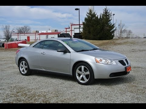 2008 Pontiac G6 Gt Convertible For Sale Dealer Dayton Troy Piqua Sidney Ohio Cp13854 Youtube
