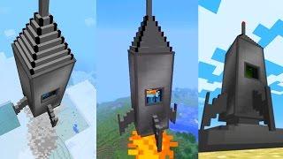 Como Hacer Un Cohete Sin Mods Para Minecraft PE 1.2 Funciona¡ (Pocket Edition)
