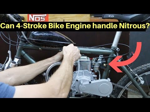 Will the 4-Stroke Bike Survive Nitrous Oxide?  Lets find out!