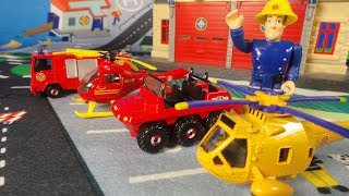 Feuerwehrmann / Fireman Sam Pontypandy play mat Wallaby 2 helicopter unboxing - Spielmatte
