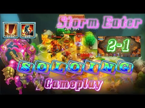 INSANE -Storm Eater Skill 12 Soloing Gameplay - Castle Clash
