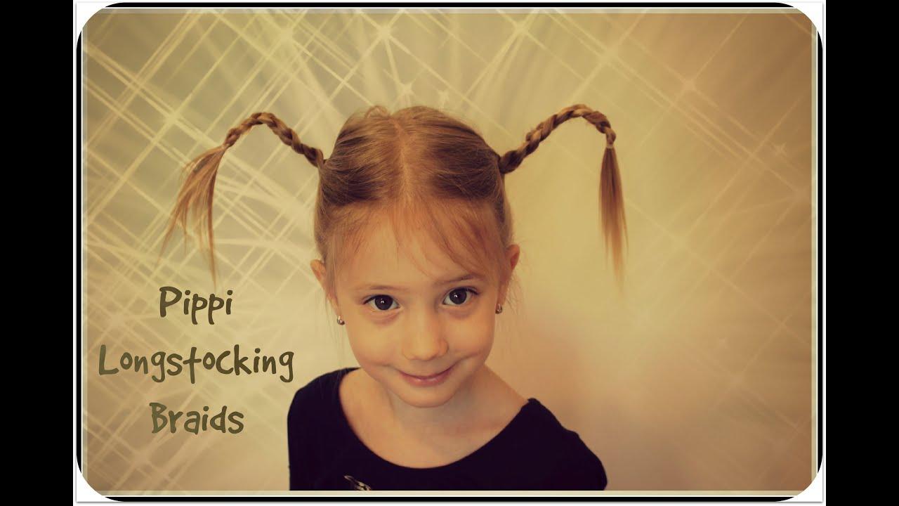 Funny Pippi Longstocking Braids For Girls Youtube