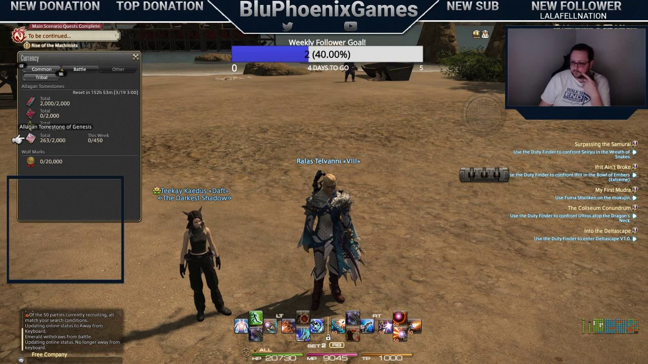 Day 99 of 365 daily stream: Final Fantasy 14 (FFXIV) - POTD or HOH, and  Daily Dungeons!