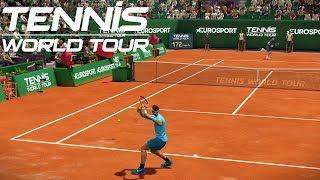Tennis World Tour - Rafael Nadal vs Roger Federer - PS4 Gameplay