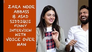 Zara Noor Abbass & Asad Siddiqui funny interview with Voice Over Man - Episode #24