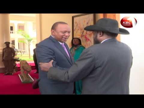 Uhuru Kenyatta holds bilateral talks with President Salva Kiir and Xi Jinping, Wang Jiarui