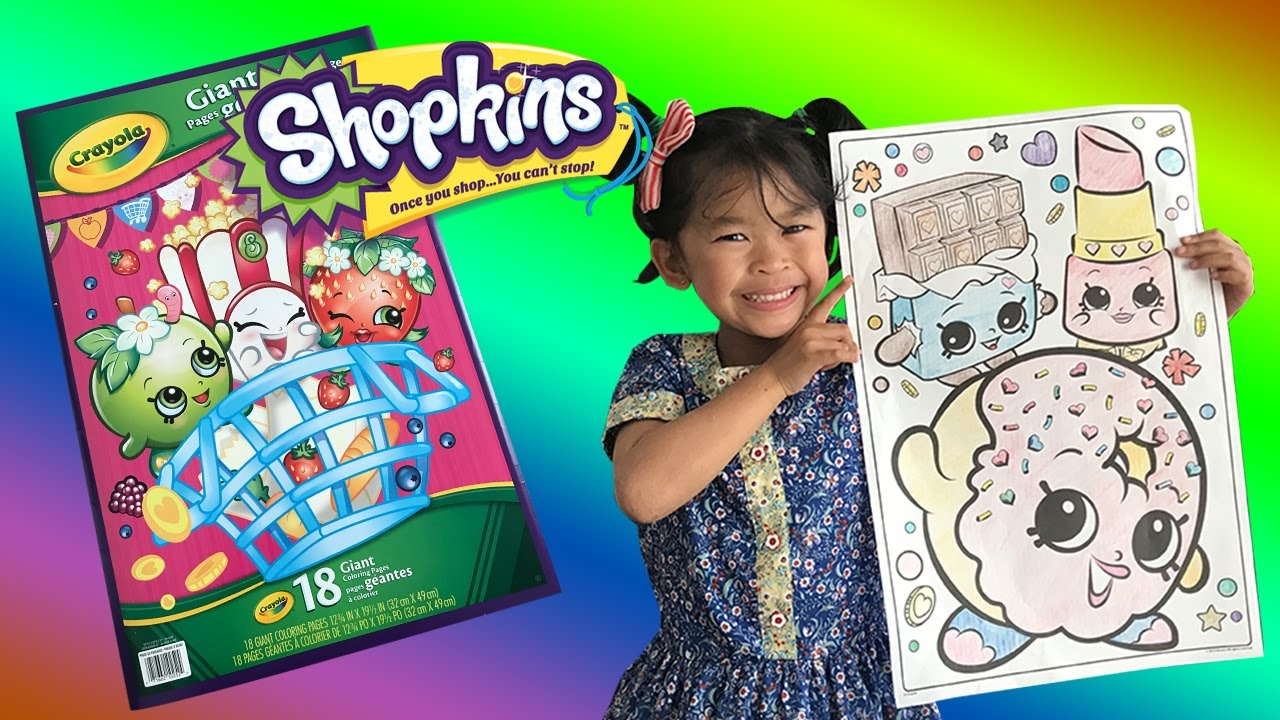 Shopkins giant coloring book - Coloring Giant Crayola Shopkins Coloring Book Ftc Style