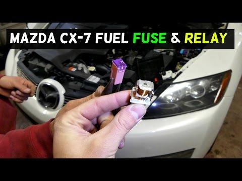 [DIAGRAM_5LK]  MAZDA CX-7 CX7 FUEL PUMP FUSE and RELAY LOCATION REPLACEMENT - YouTube   Mazda Cx7 2007 Fuse Box      YouTube